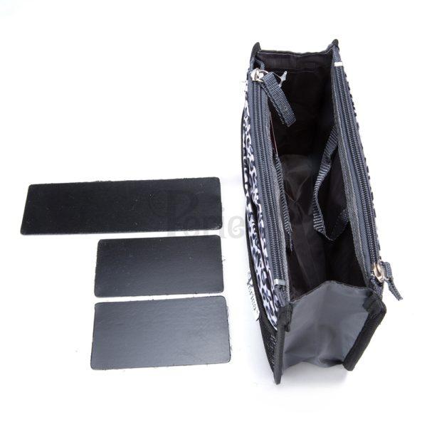 Chelsy Firm - Premium - Leopard Silver - Small, Medium and Large - Periea Handbag Organiser (1)