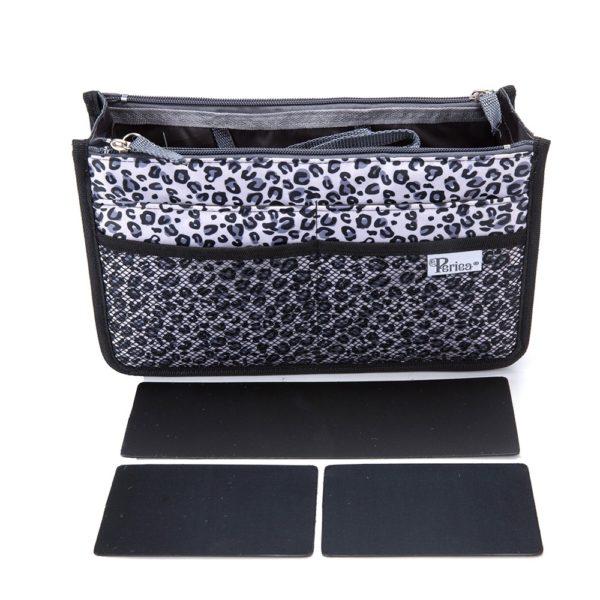Chelsy Firm - Premium - Leopard Silver - Small, Medium and Large - Periea Handbag Organiser (2)