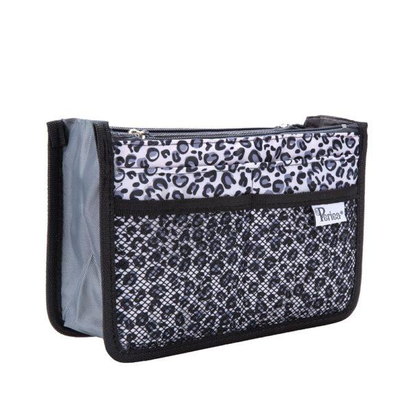 Chelsy Firm - Premium - Leopard Silver - Small, Medium and Large - Periea Handbag Organiser (3)