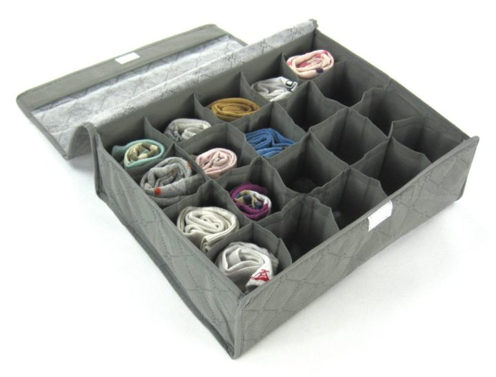 JNDR8GR-Periea Drawer Organiser 20 compartments - Grey - Rihana-1