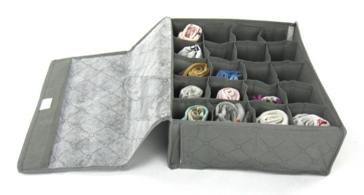 JNDR8GR-Periea Drawer Organiser 20 compartments - Grey - Rihana-2