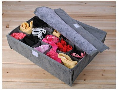 JNDR8GR-Periea Drawer Organiser 20 compartments - Grey - Rihana-3