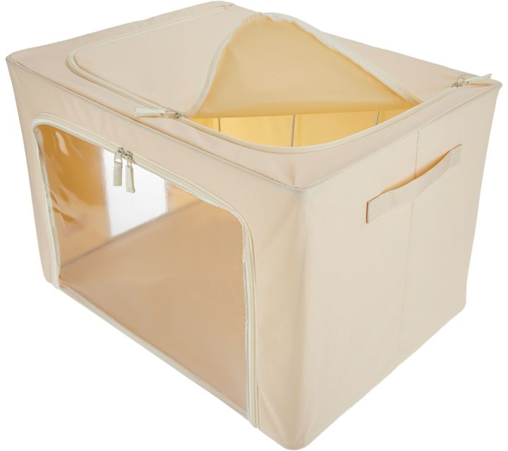 Periea Large Collapsible Strong Fabric Storage Box - 2 Pack-JNST81PK2CR-XL