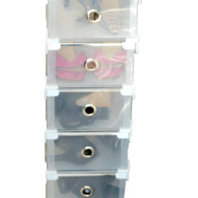 Shoe organiser size 4 white tall