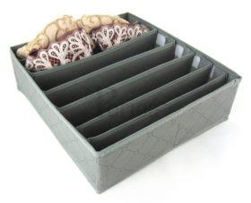 Periea Bedroom Drawer Organiser 7 Slots – Grey – Kerry-JNDR14GR-2