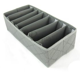 Periea Bedroom Drawer Organiser 7 Slots – Grey – Sam-JNDR13GR-3