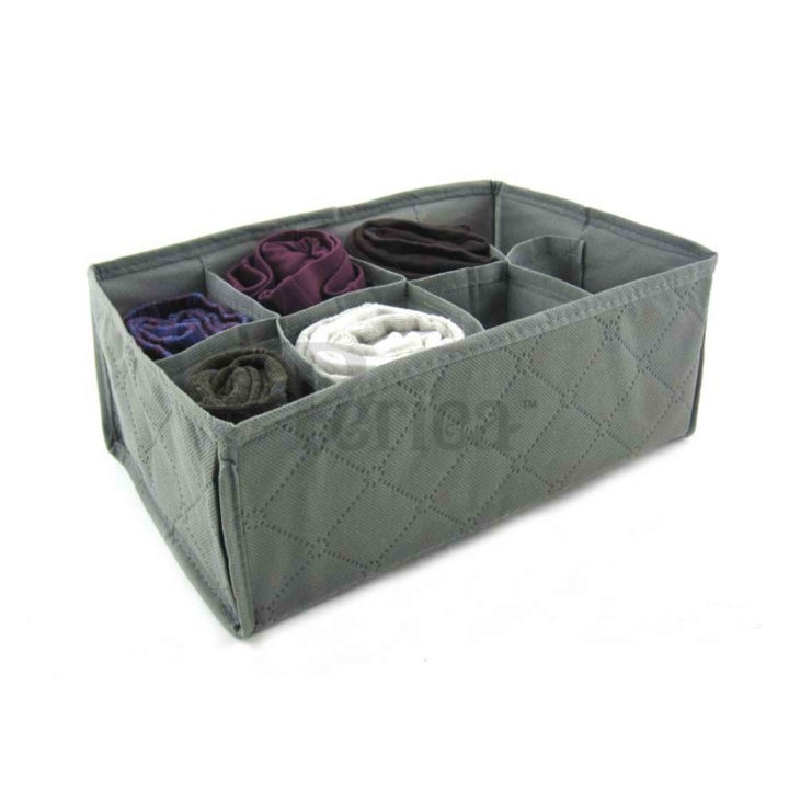 Periea Bedroom Drawer Organiser 8 compartments – Grey – Suzy-Jndr2gr-01
