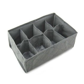 Periea Bedroom Drawer Organiser 8 compartments – Grey – Suzy-Jndr2gr-02
