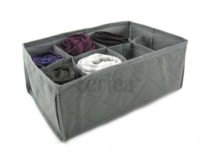 Periea Bedroom Drawer Organiser 8 compartments – Grey – Suzy-Jndr2gr-2