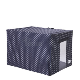 Periea-Collapsible-Clothes-&-Bedding-Storage-Boxes-Under-bed-or-in-Wardrobe-Pack-of-4-black-with-white-polka-dots-JNST81PK4BLW-M-XL-14