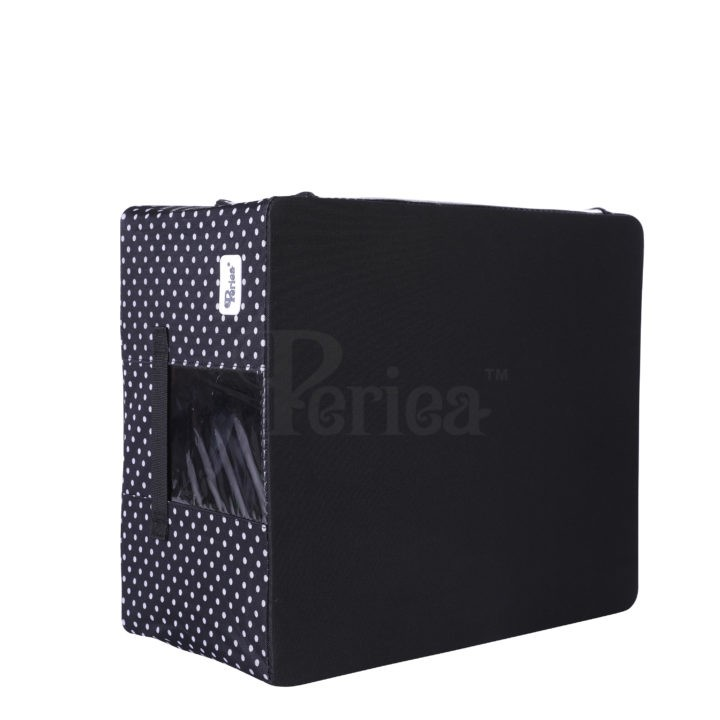 Periea-Collapsible-Clothes-&-Bedding-Storage-Boxes-Under-bed-or-in-Wardrobe-Pack-of-4-black-with-white-polka-dots-JNST81PK4BLW-M-XL-25