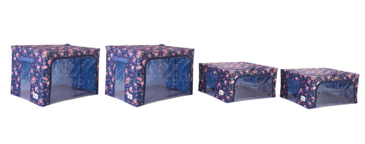 Periea-Collapsible-Clothes-&-Bedding-Storage-Boxes-Under-bed-or-in-Wardrobe-Pack-of-4-floral-blue-JNST81PK4BLUFL-M-XL-5