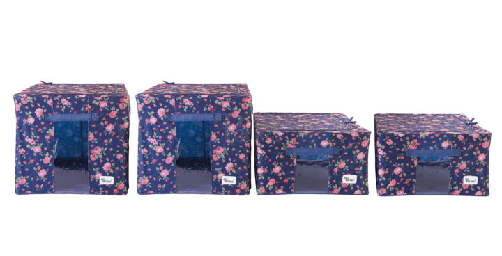 Periea-Collapsible-Clothes-&-Bedding-Storage-Boxes-Under-bed-or-in-Wardrobe-Pack-of-4-floral-blue-JNST81PK4BLUFL-M-XL-6