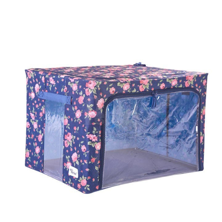 Periea-Collapsible-Clothes-&-Bedding-Storage-Boxes-Under-bed-or-in-Wardrobe-Pack-of-4-floral-blue-JNST81PK4BLUFL-M-XL-7