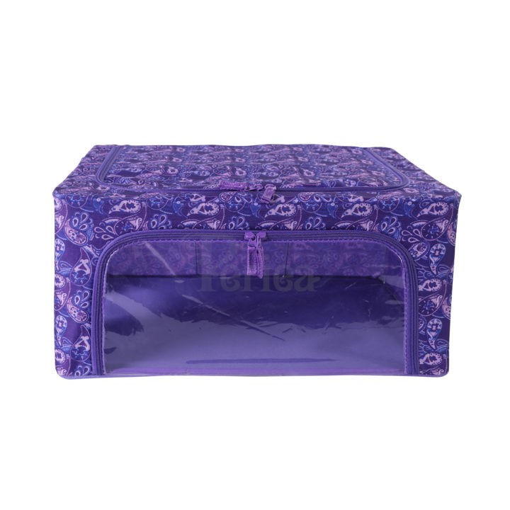 Periea-Collapsible-Clothes-&-Bedding-Storage-Boxes-Under-bed-or-in-Wardrobe-Pack-of-4-purple-paisley-JNST81PK4PUPA-M-XL-3