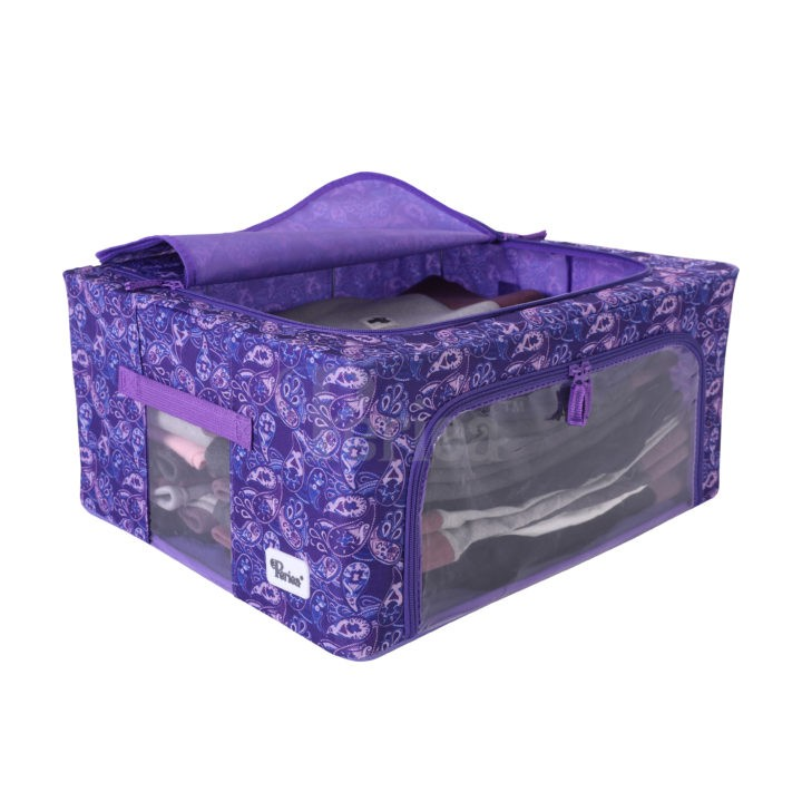 Periea-Collapsible-Clothes-&-Bedding-Storage-Boxes-Under-bed-or-in-Wardrobe-Pack-of-4-purple-paisley-JNST81PK4PUPA-M-XL-5