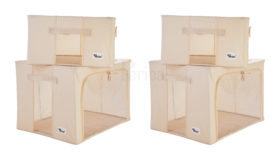 Periea-Collapsible-Clothes-&-Bedding-Storage-Boxes-Under-bed-or-in-Wardrobe-Pack-of-4-tan-JNST81PK4CR-M-XL-11