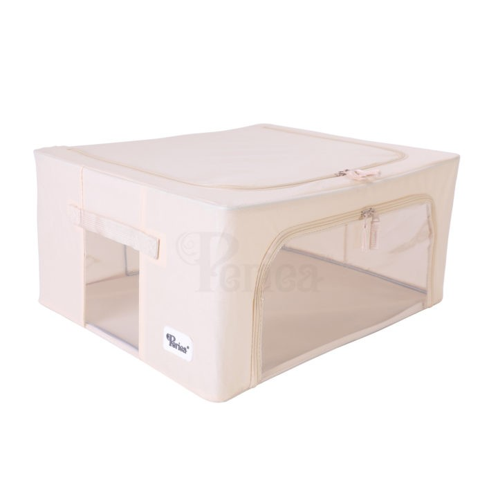 Periea-Collapsible-Clothes-&-Bedding-Storage-Boxes-Under-bed-or-in-Wardrobe-Pack-of-4-tan-JNST81PK4CR-M-XL-2