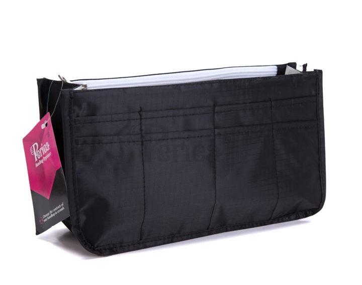 Periea-Handbag-Organiser–Daisy–Black–JNB60BL