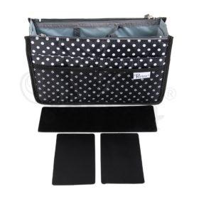 Periea-Premium-Structured-Handbag-Organiser-Black-with-White-Polka-Dots-JNB18BLWXLHA-1