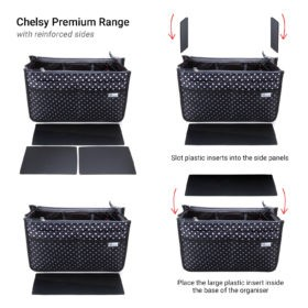 Periea-Premium-Structured-Handbag-Organiser-Black-with-White-Polka-Dots-JNB18BLWXLHA-2