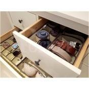Periea 4 Pack Bedroom Drawer Organiser Inserts Isla 45 Cells Periea Organisers